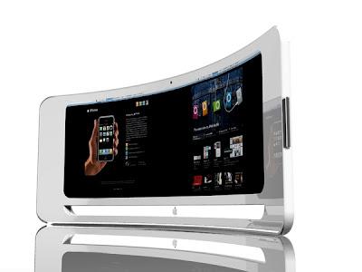 concetti di monitor del futuro. LCD Iview