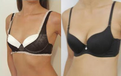 The above 32B bras are Blush Coquette Bra, left, on a shallow breast ... C Cup Breast Vs B Cup
