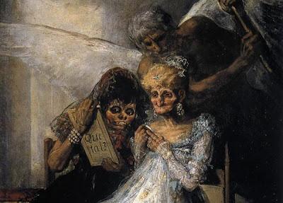 Las viejas, por Francisco de Goya