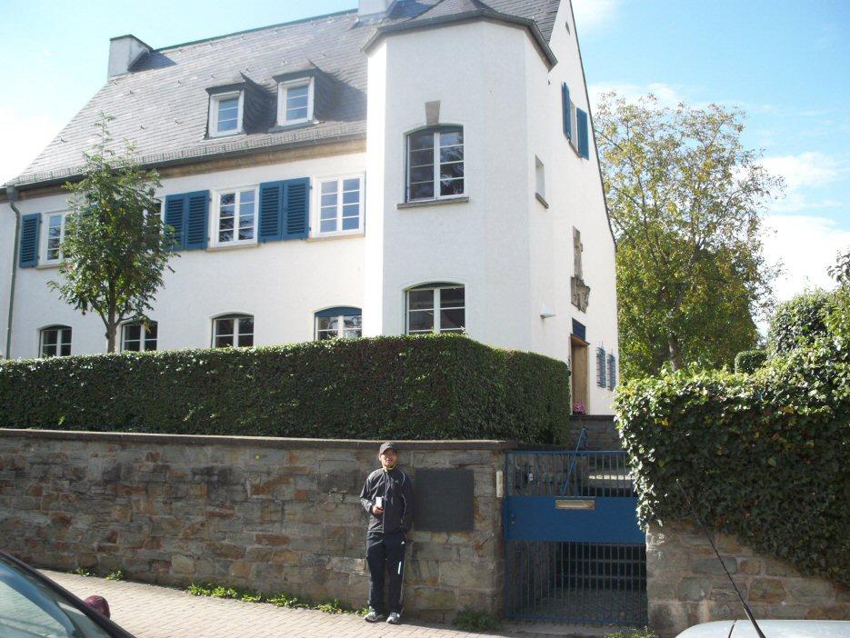 dahlemer vrijheidsloop bezoek aan voormalig huis martin niem ller