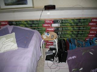Sänggavel av trägolv