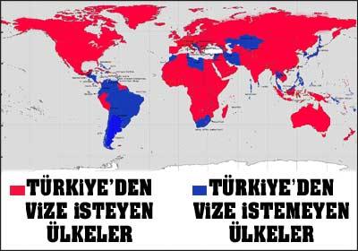 Türkiye ye vize uygulayan ülke sayısı azalıyor türkiye ye vize