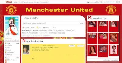 Tema skin para Orkut Manchester united