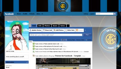 facebook skin layout - theme for facebook with Internazionale