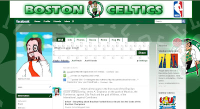 facebook layout skin template theme nba boston celtics
