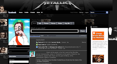 facebook layout skin template theme dark black  metallica