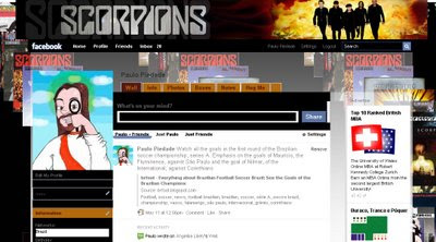 facebook layout skin template theme scorpions