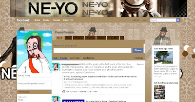 facebook layout skin template theme ne yo ne-yo