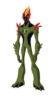 Swampfire Todos os Personagens de Ben 10 : Alien Force para crianças