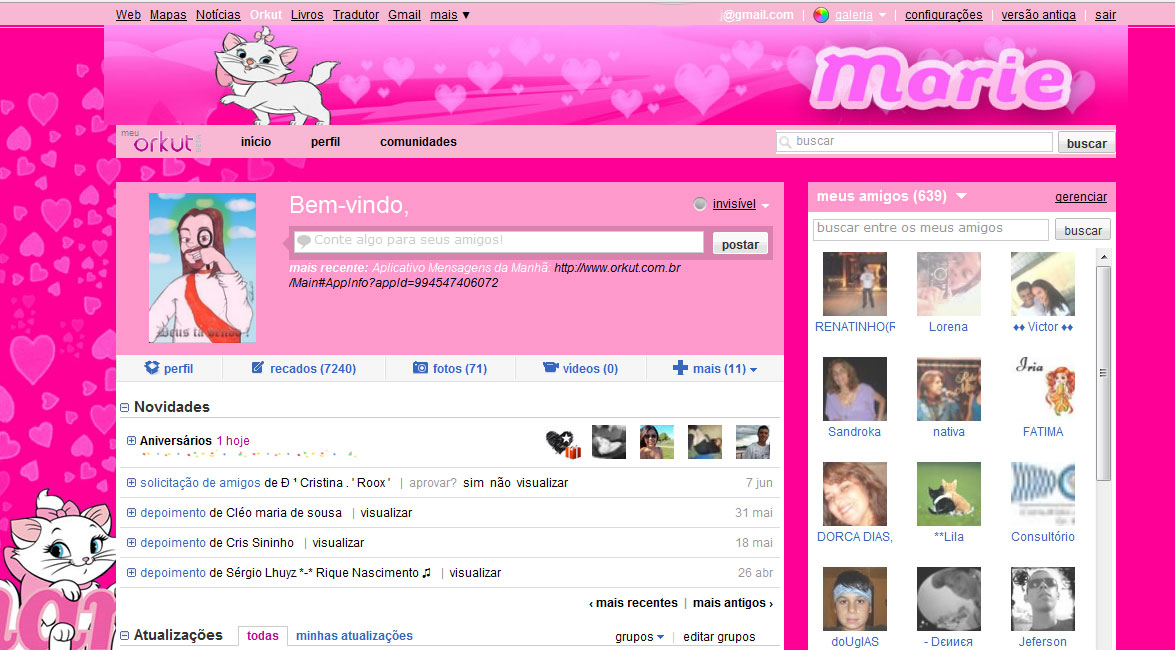 Tema Para Orkut Gatinha Marie Templah Themes And Skins For
