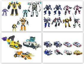 Transformers Deluxe Generation Wave 3 & Power Core Commander 2-Packs Series 02 - Set of 3