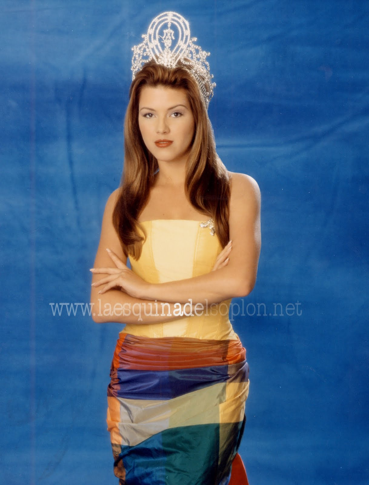 Alicia Machado cuando fue Miss Universo.