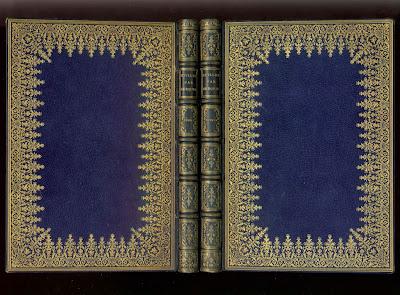 maroquin bleu relié par Chamboll-Duru