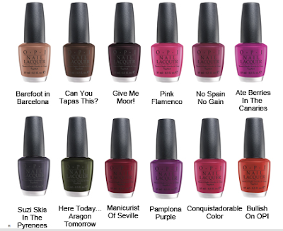 OPI Espana Spain collection