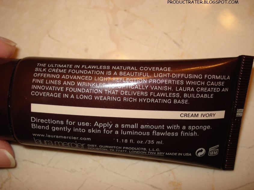 Productrater Review Laura Mercier Silk Creme Foundation