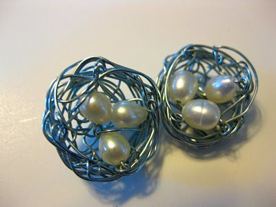 these bird#39;s nest earrings