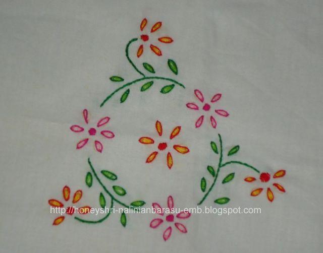 Hand embroidery lazy daisy makaroka