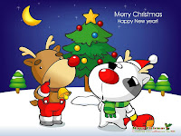 animated cartoon christmas wallpaper for desktops