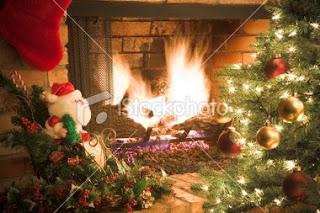 Christmas Fireplace Desktop Wallpapers
