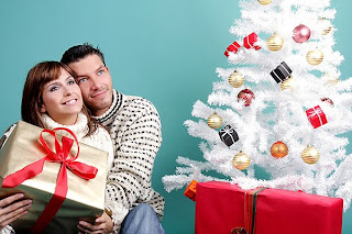 christmas romantic couple
