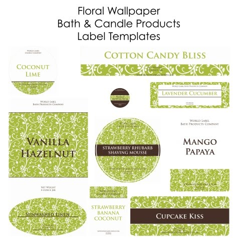 Zany image within free printable candle labels