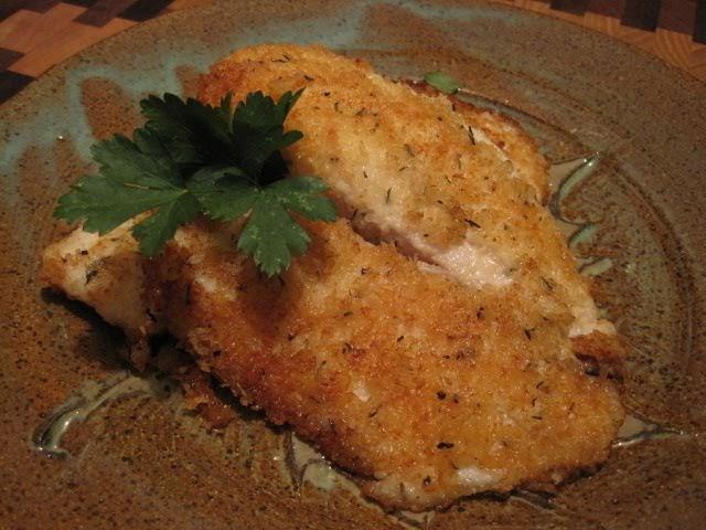 CURIOUS EATS: Panko-Gruyere Crusted Tilapia