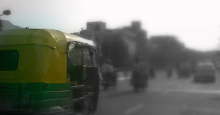 CNG Auto on Delhi roads