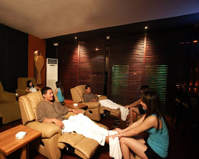 Klien sedang di Panti Pijat