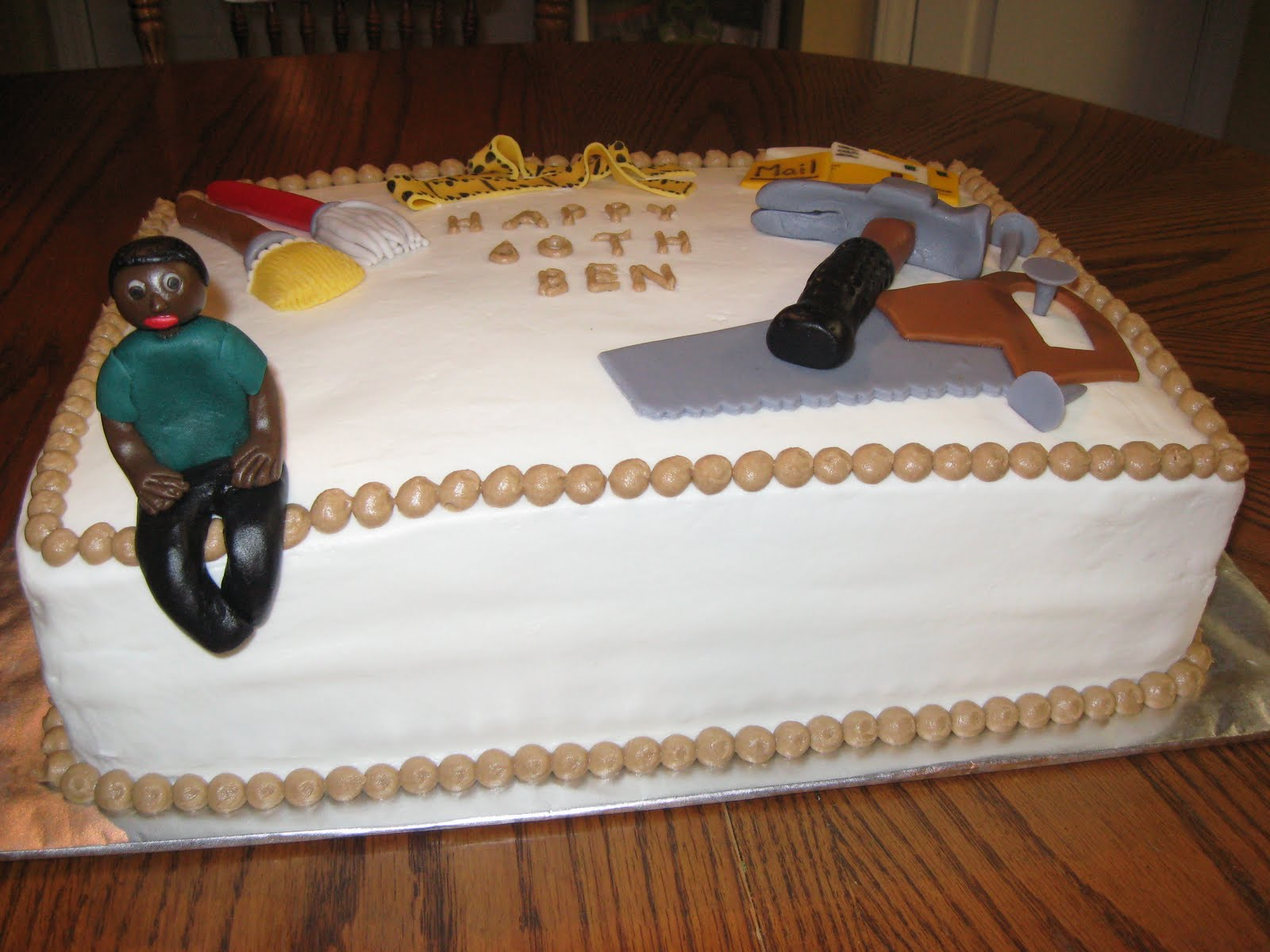 Cake Ideas For 60th Male Birthday : Delectable Sweets by the Smiths: 60th Birthday Cake