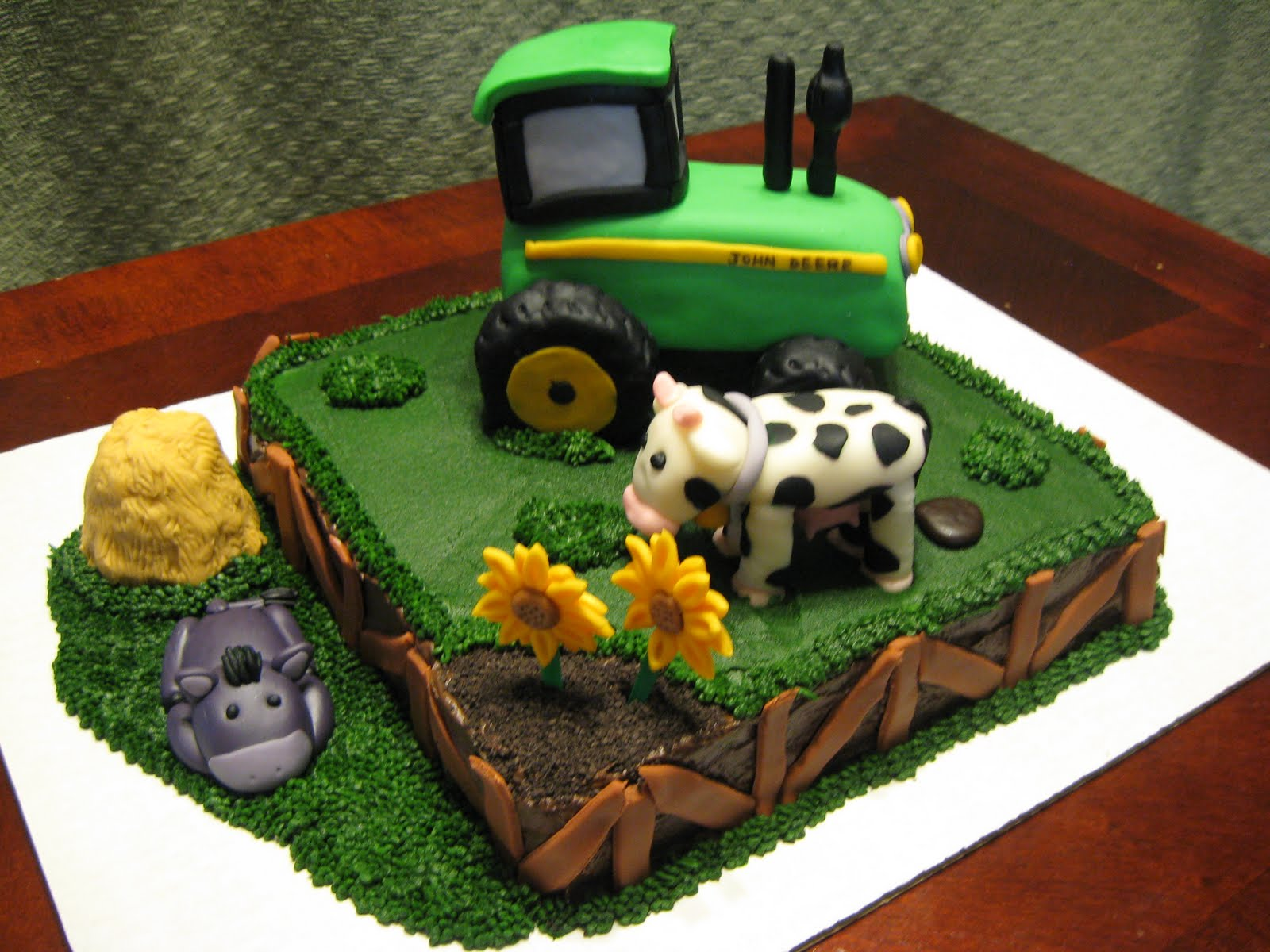 Delectable Sweets By The Smiths John Deere Farm Cake