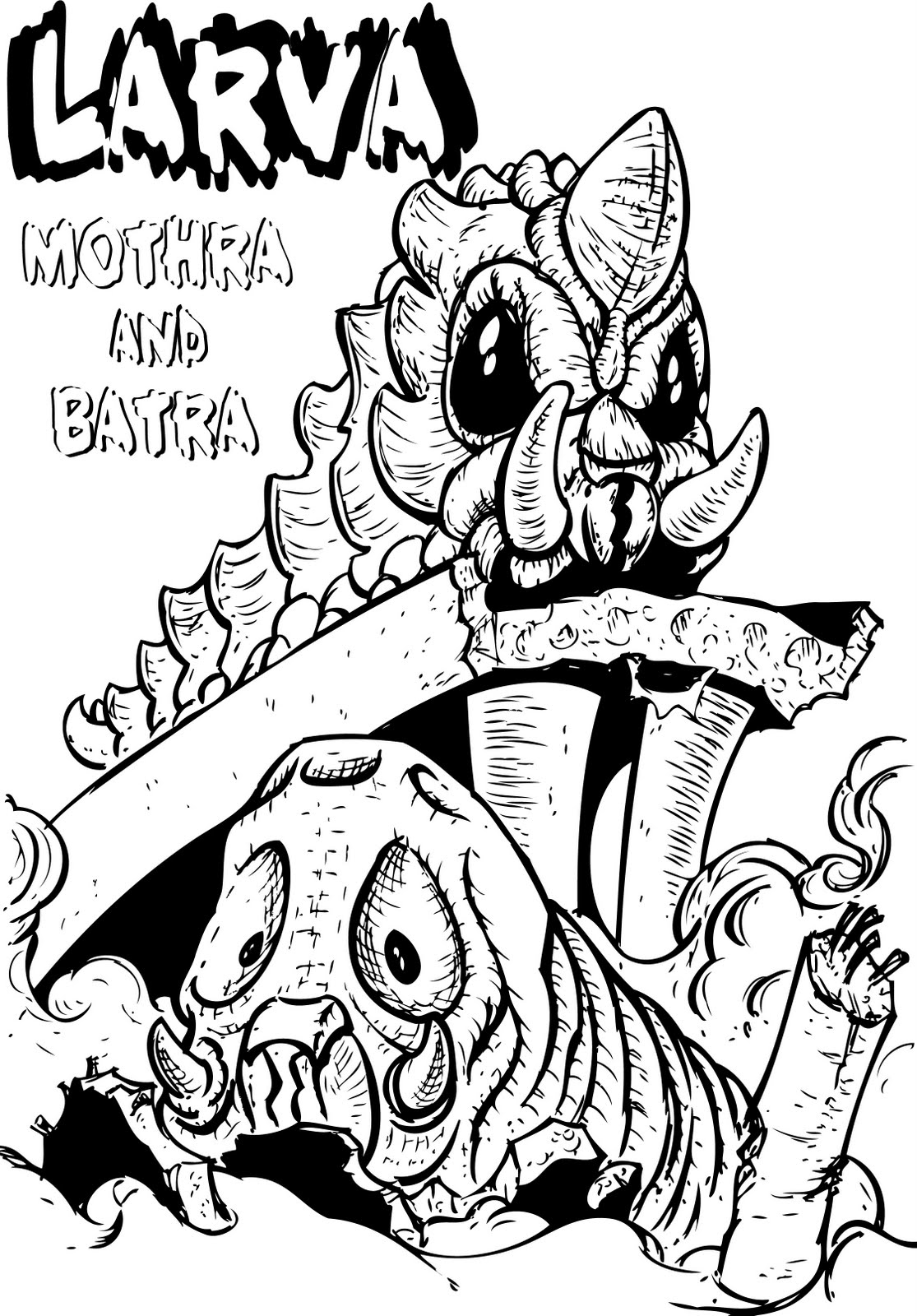 Mothra Larva Free Coloring Pages