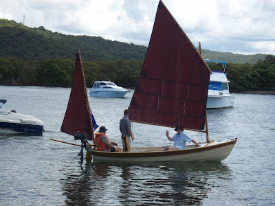 Photo shows sailing dinghy