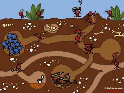 Coloreando letras hormigas hormiguitas y hormigotas proyecto de kinder - Casa de hormigas ...