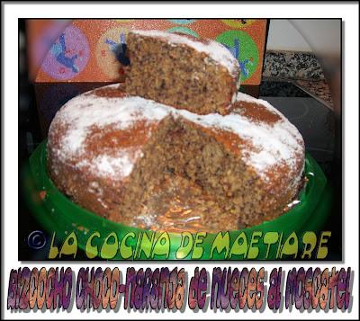 Bizcocho de chocolate, naranja y nueces aromatizado con moscatel CIMG7774