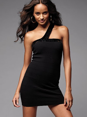 sexy black one shoulder summer dress 2010