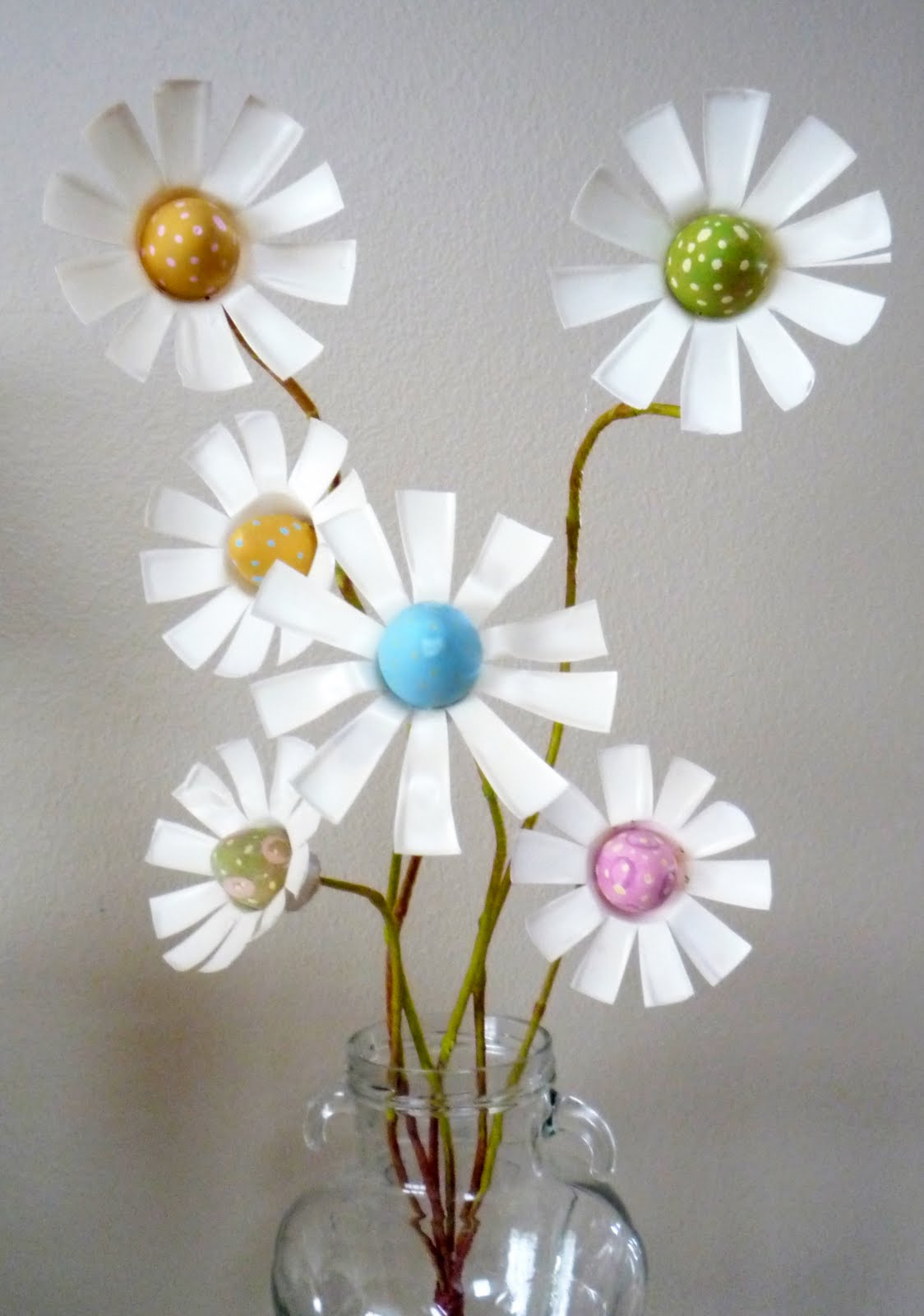 Crafty Sisters Day 3 Pop Bottle Egg Flowers
