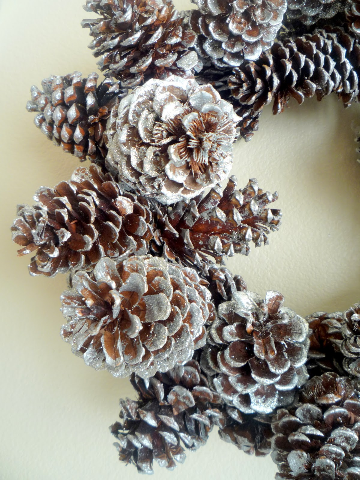 Wiring Pine Cones The Wire Lets The Pine Cones
