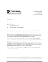 Oct 06 letter from new BSD HR director Sue Robertson