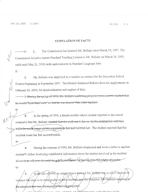 "The OEA lawyer and the TSPC investigator's illegal ""confession"" document"
