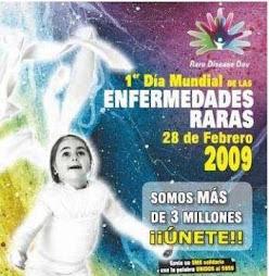 28 de Febrero, PRIMER DÍA MUNDIAL DE LAS ENFERMEDADES RARAS