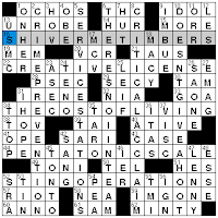 Diary of a crossword fiend daily commentary on crossword puzzles joe krozel packs 10 15 letter answers into his new york times crossword but he spaces them out so it feels different from the sort of themeless puzzle with spiritdancerdesigns Images