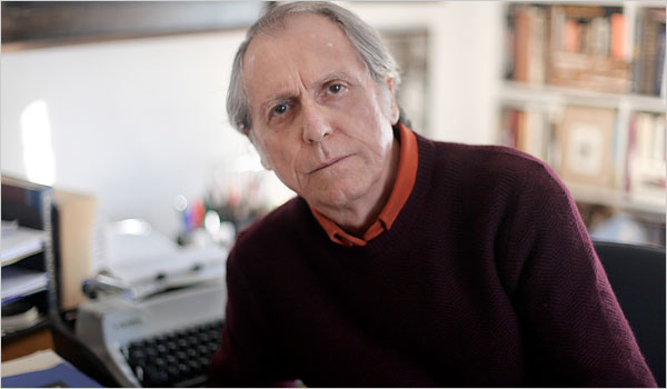 Don DeLillo at his typewriter. Photograph: Sara Krulwich/The New York Times