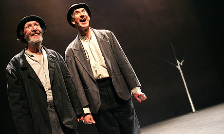 Johnny Murphy (Estragon) and Barry McGovern (Vladimir) in Waiting For Godot at the Barbican in London. Photograph: Tristram Kenton