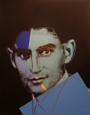 Franz Kafka. Portrait by Andy Warhol