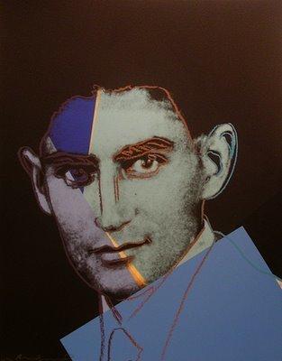 Franz Kafka. Portrait by Andy Warhol
