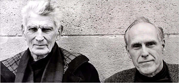 Samuel Beckett, left, and Barney Rosset in Paris in the 1970s. Photograph by Robert Adelman