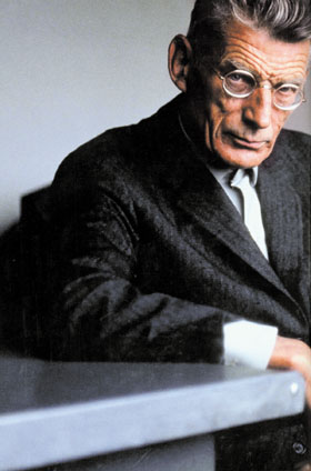 Samuel Beckett. Rare colour photograph.