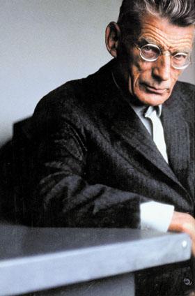 Samuel Beckett. Rare colour photograph.