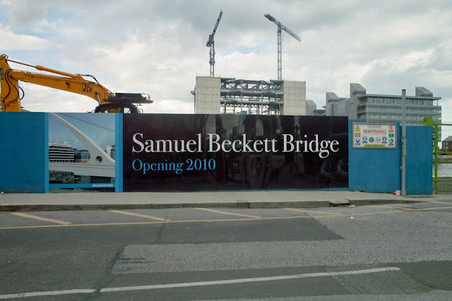 Samuel Beckett Bridge Arrives in Dublin. To open in 2010. Photograph by Infomatique