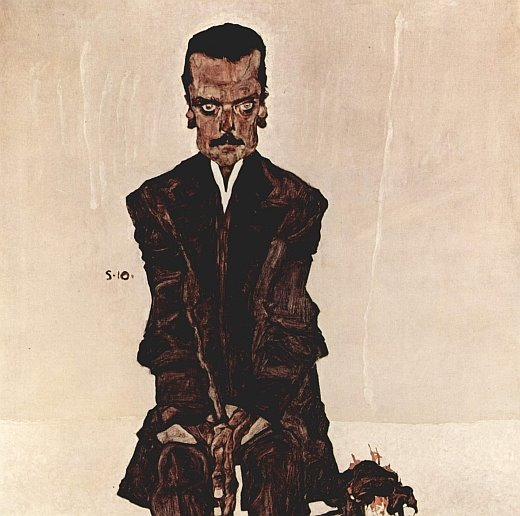Egon Schiele, Portrait of Eduard Kosmack (1910)